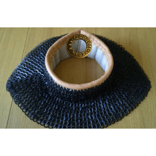 Standards 6mm flat ring round riveted with linen, wool and leather collar