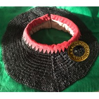 Deluxe Standard 6mm Flat Ring Round Riveted C15th style with padding and leather trim