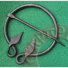 Leaf Head Hand Forged Brooch